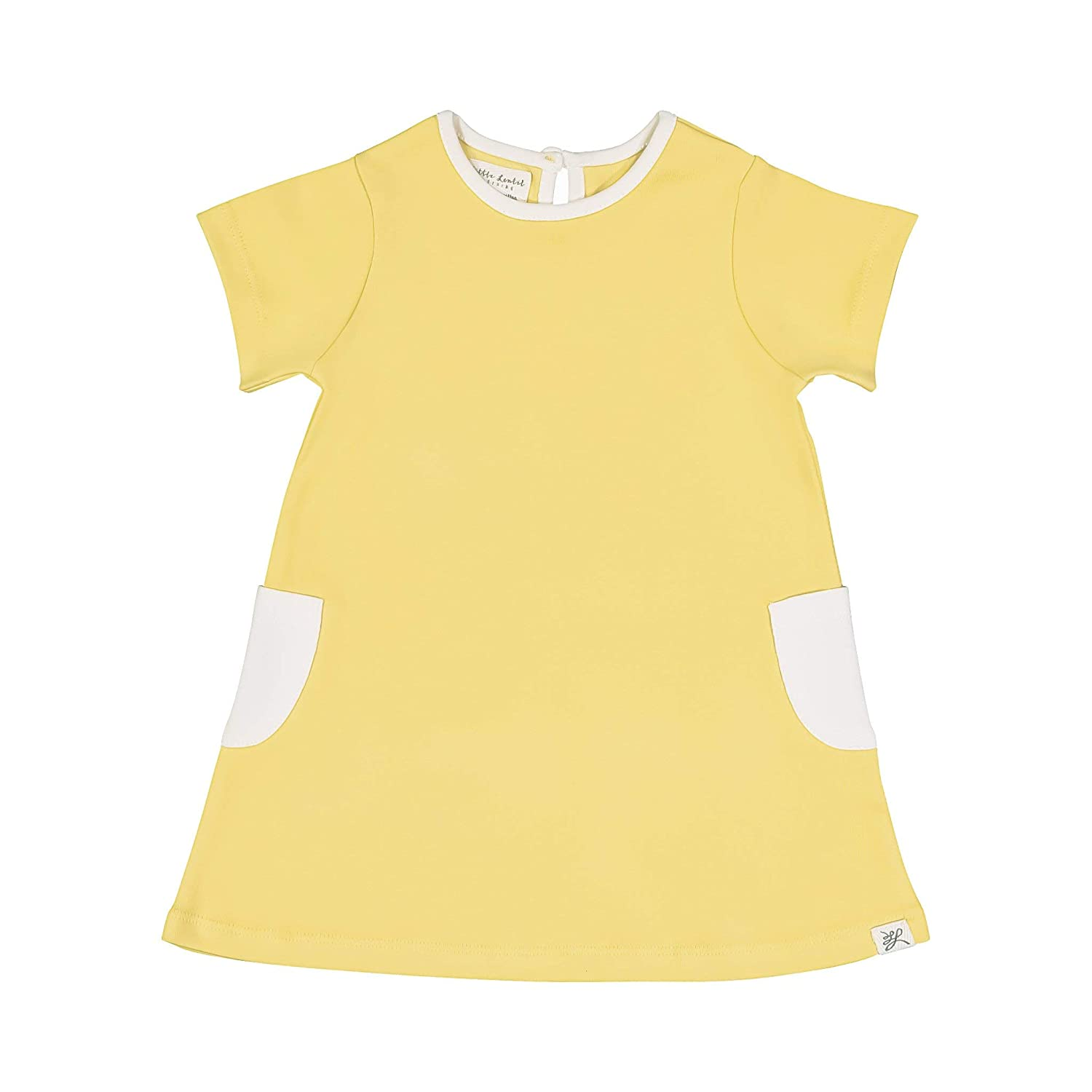 Little Lentil Organic Cotton Baby Girls Pocket Dress