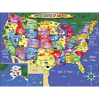 Amazoncom EuroGraphics Map of The United States Puzzle 1000