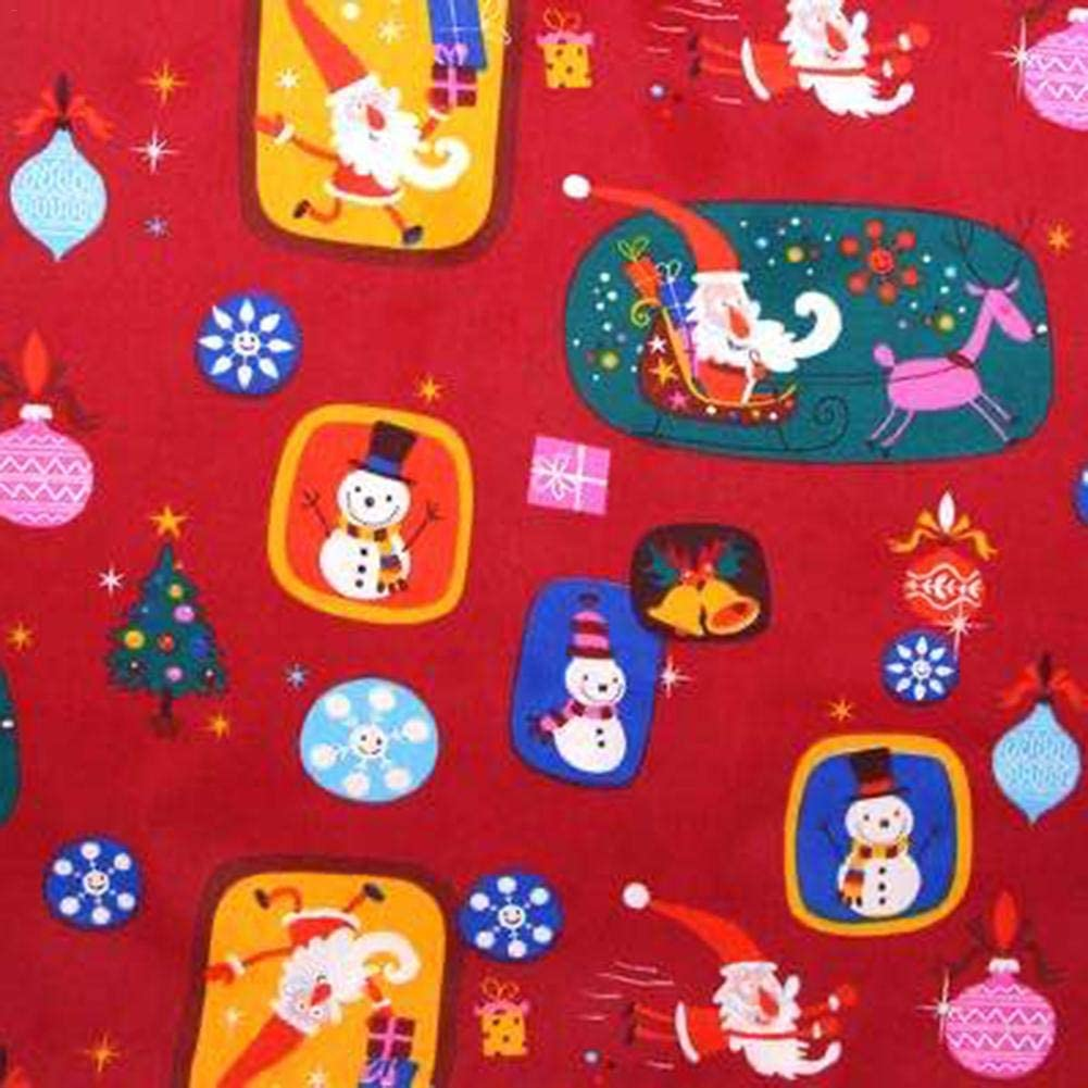 Crafting Patchwork Supplies For Christmas DIY Sewing 8PCS Christmas Quilting Fabric 19.68 X 19.68 Inch Squares Cotton Fat Quarters Fabric Bundles