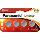 Panasonic CR2025 3.0 Volt Long Lasting Lithium Coin Cell Batteries in Child Resistant