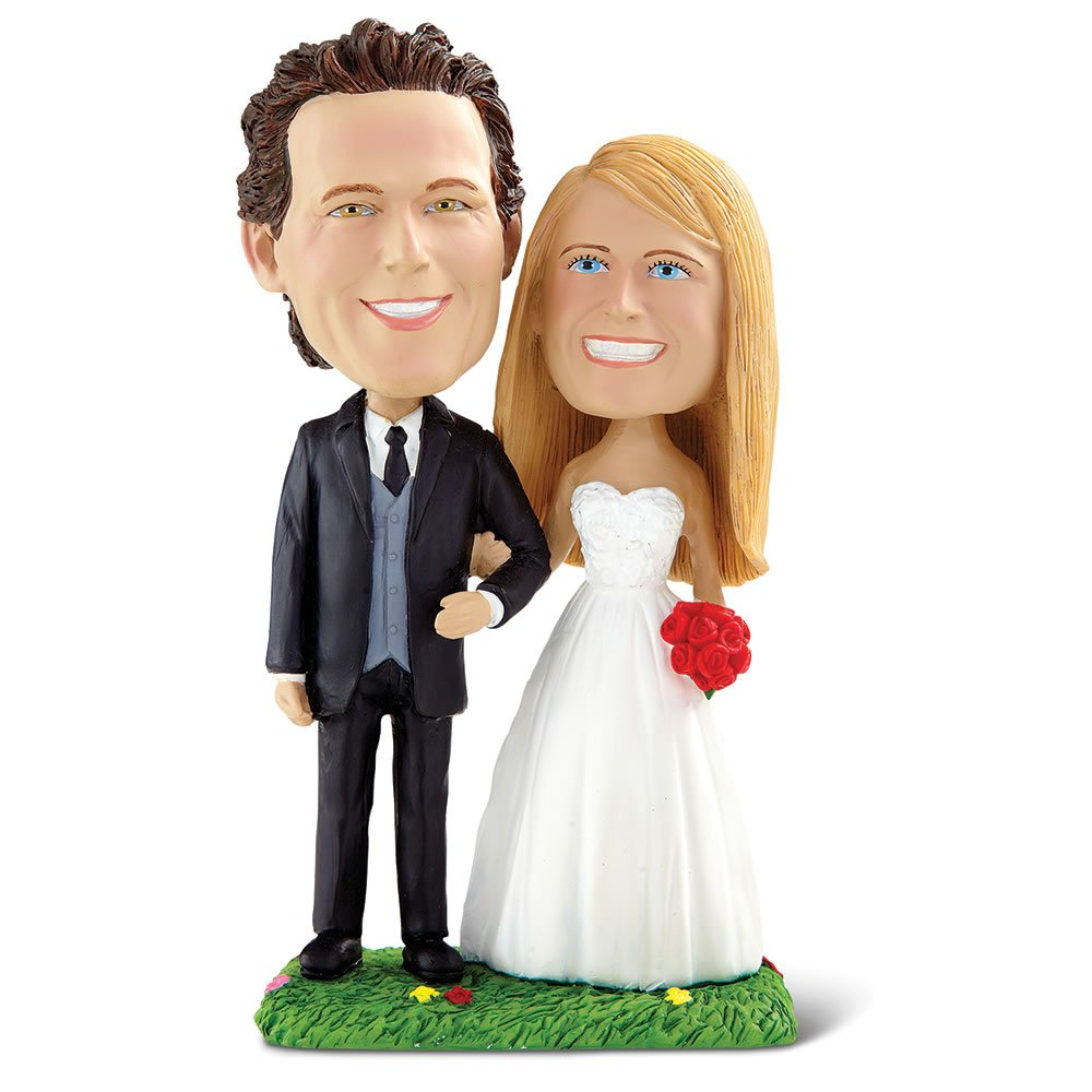 Hammacher Schlemmer The Personalized Happy Couple Bobblehead