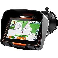Koolertron - Tout Terrain Système de Navigation GPS à écran Tactile 4,3 pouces pour Scooter, Moto & Mobylette avec Mémoire Internal: 4 GO et Kit mains libres Bluetooth - Imperméable à l'eau: IPX7, 16:9