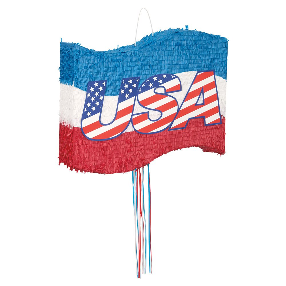 USA Flag Pinata, Pull String by Unique