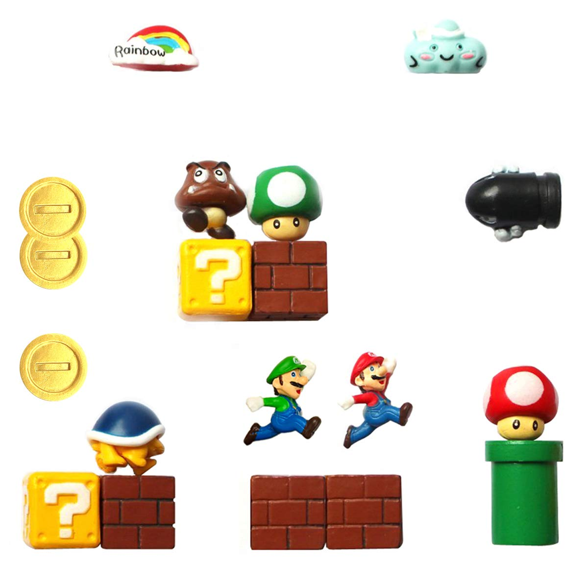 Super Mario Fridge Magnets - 18 PCS Refrigerator Magnets,Office Magnets,Calendar Magnet,Whiteboard Magnets,Christmas Magnets,Perfect Decorative Magnet
