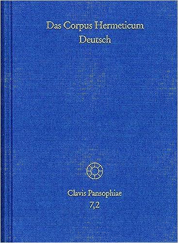 Das Corpus Hermeticum Deutsch Tl2 Exzerpte Nag Hammadi Texte