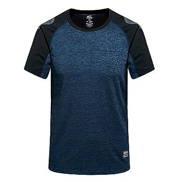 M.Baxter Camiseta de manga corta con cuello redondo para hombre ejercicio ropa deportiva camisetas: Amazon.es: Deportes y aire libre