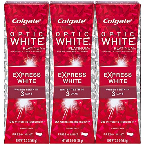 Extra Strength Toothpaste - Colgate Optic White Express White Whitening Toothpaste - 3 ounce (3 Pack)
