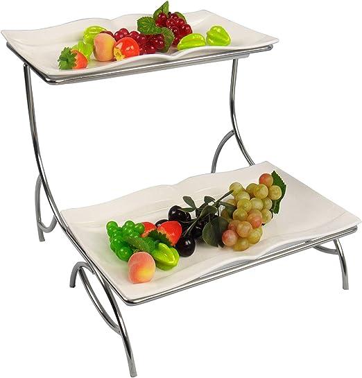 30cm Large Mesh Fruit Bowl Basket Dinning Table Kitchen Vegetables Storage Black