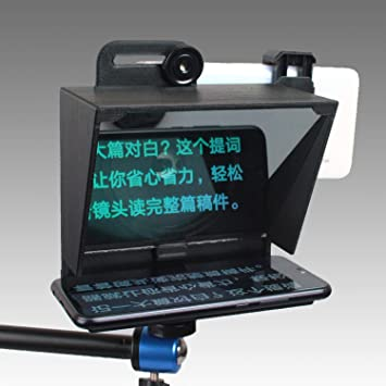 S18 46mm Adapter Ring Portable Mini Teleprompter for All Smartphone with Remote Control