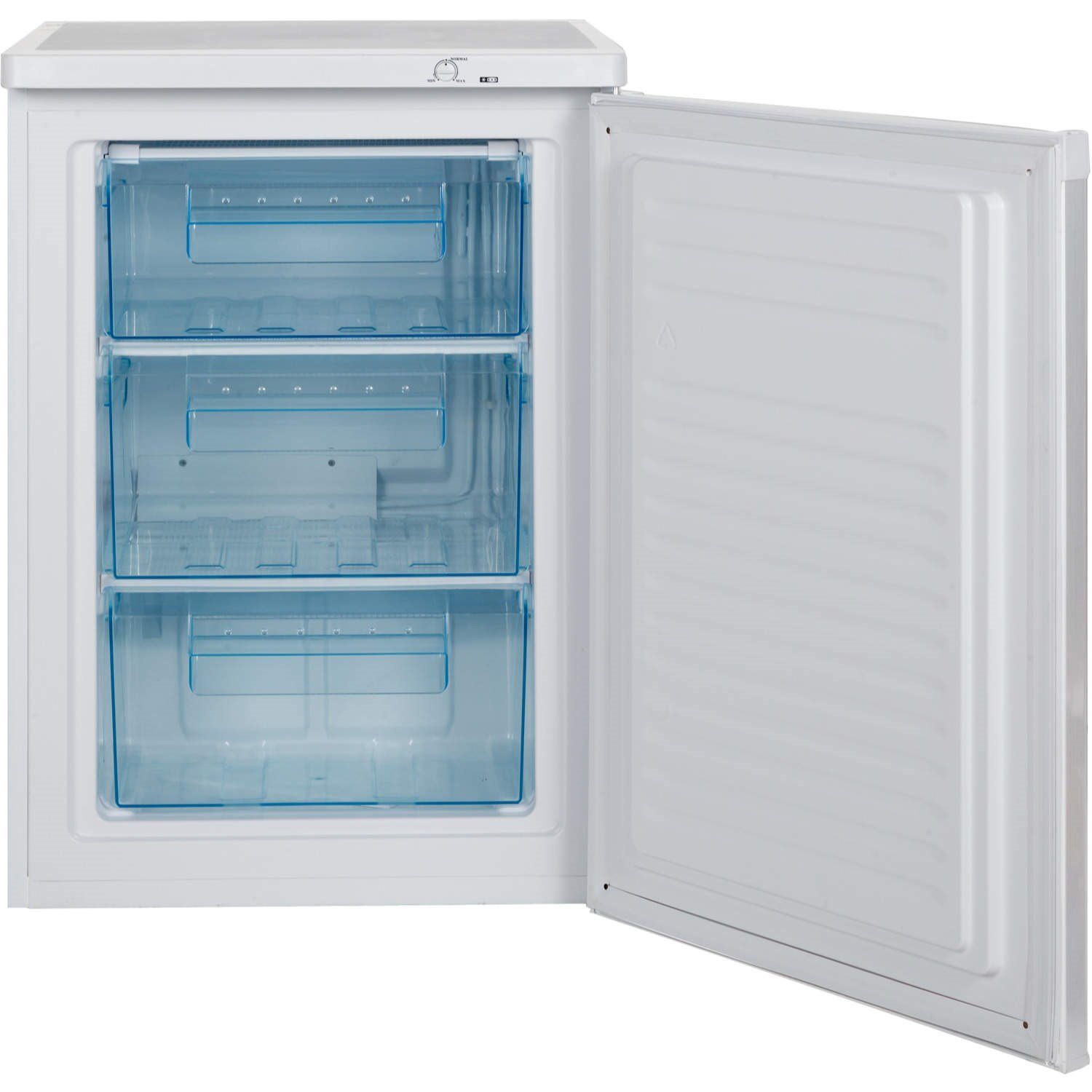 LEC U6014 60cm Wide Freestanding Upright Under Counter Freezer - White