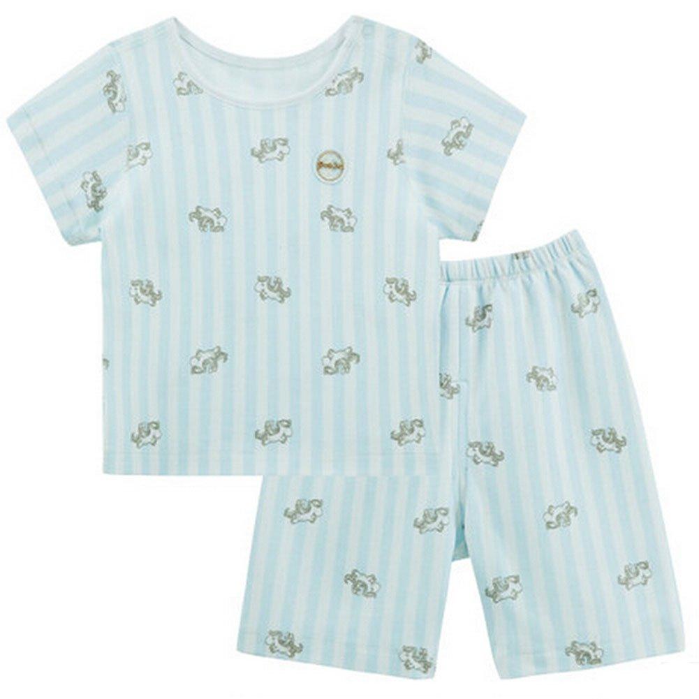 BLUE Infant Short Slevees& Shorts 2 Pieces Baby Toddler Underwear Set 6-9M Blancho Bedding