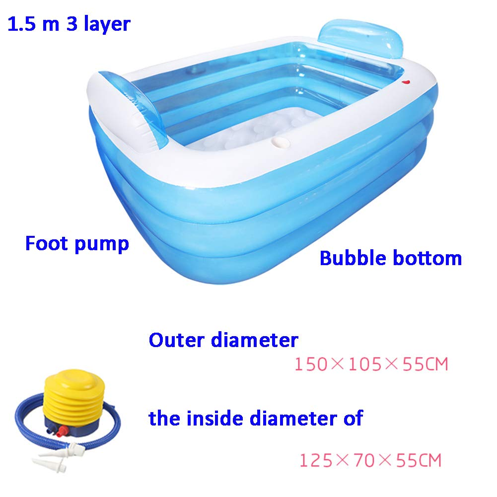 G DENG&JQ Inflatable Bathtub,thicken Household Bathtub Adult Fold Bathtub Plastic Body Bathtub Bathtub Bath Artifact-b