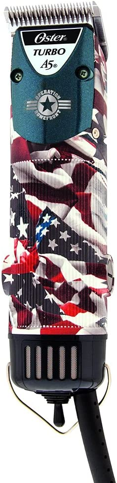 Oster American Flag Patriotic A5 Turbo Two Speed Professional Pro Clipper