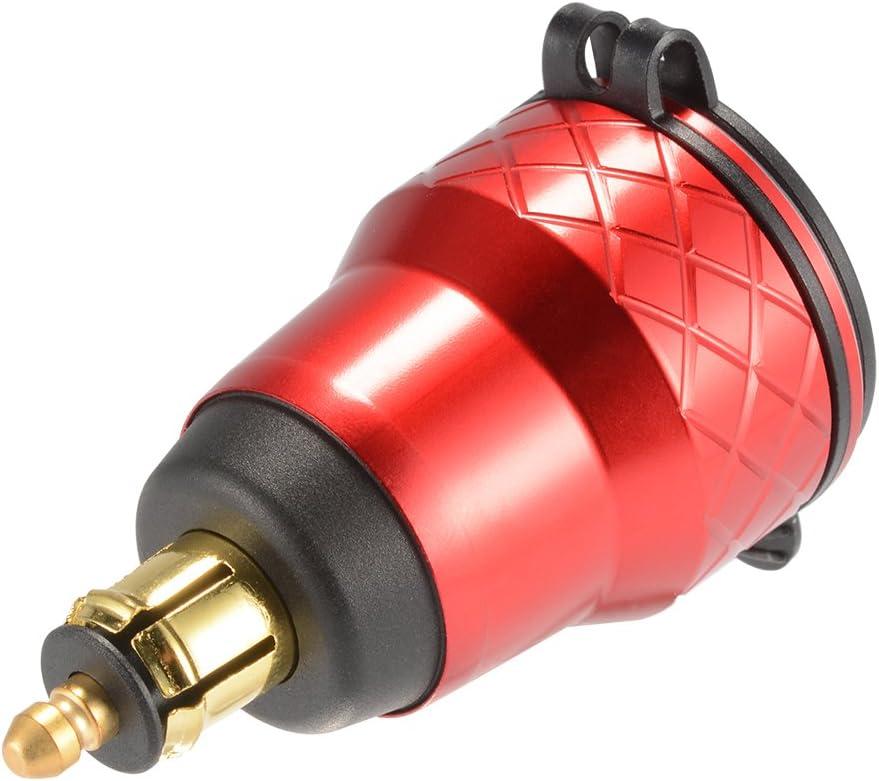 Kreema Motorrad Dual USB Ladeger/ät 12 V-24 V 4.2A Voltmeter Legierung Shell f/ür BMW Hella Din Buchse Rote LED