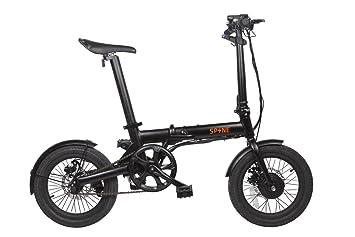 Spine | Ebike Bicicleta Eléctrica Plegable 16 | Mod. Milano Zona3 | Color Negro