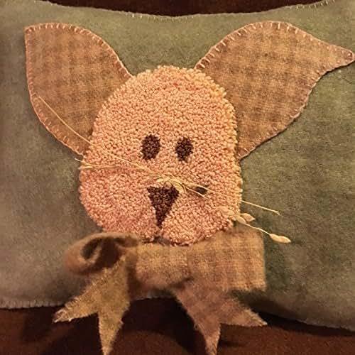 Broom Stick Bunny Mirror: Amazon.com: Punch Needle Embroidery BONNIE'S BUNNY PILLOW