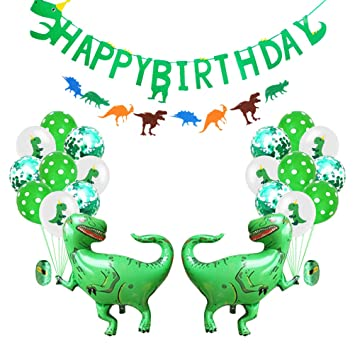 Amosfun 24pcs Dinosaur Party Supplies Set Set de Globos ...