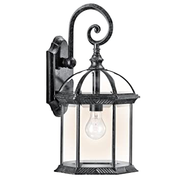 Kichler 49186bk one light outdoor wall mount