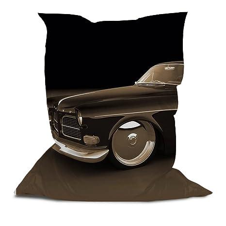 Amazon.com: Branded – Puf con estampado clásico car: Kitchen ...