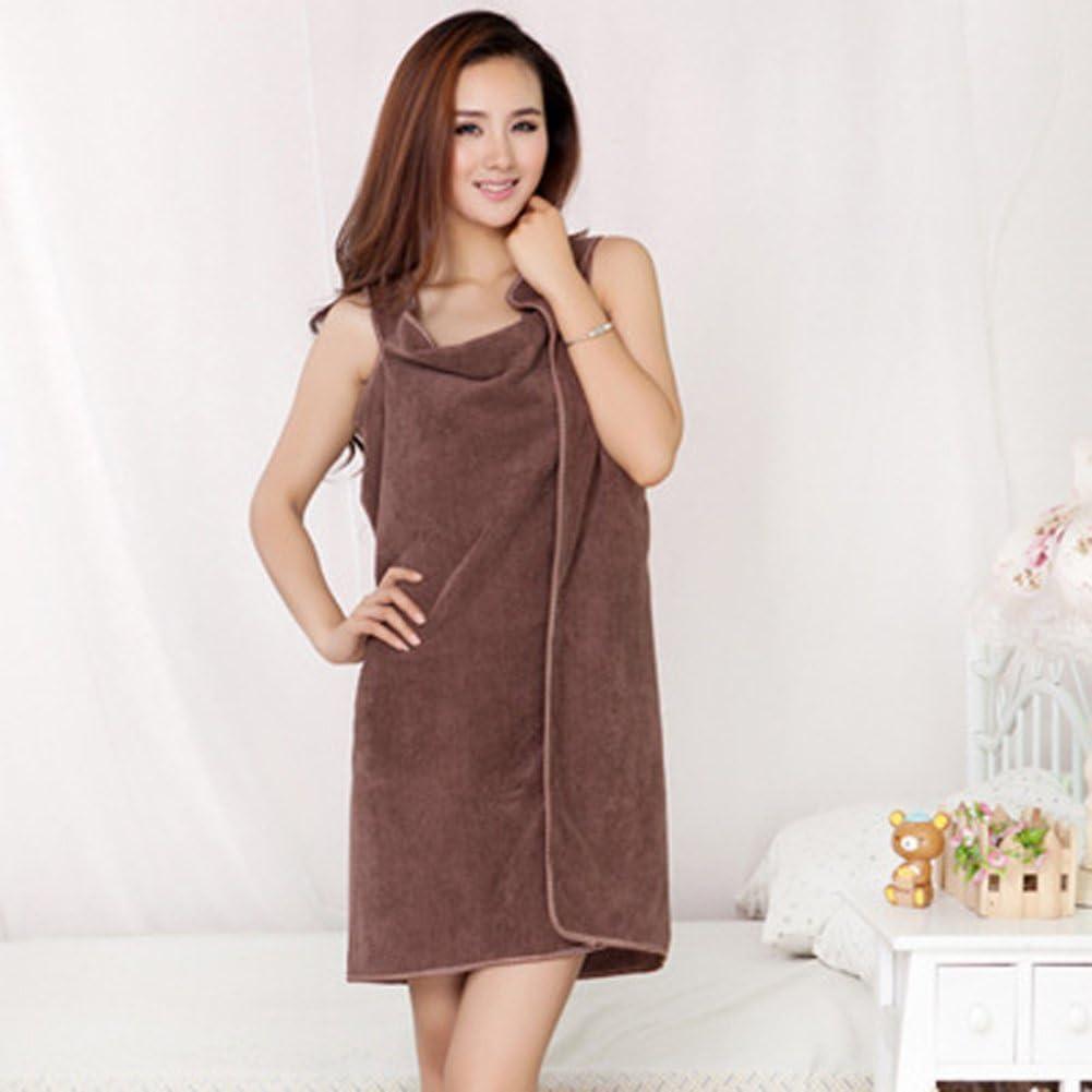 YOUNICER Bath Towel Wrap Beach Spa Bathrobes Bath Skirt Easy Wear Clean Soft Cotton Fabric Bath Wraps Lady Women Girls Wearable
