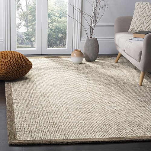 Safavieh Abstract Collection ABT220D Contemporary Handmade Brown and Ivory Premium Wool Area Rug (6