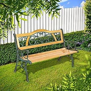 tectake banc de jardin banc pour ext rieur jardin ou terrasse. Black Bedroom Furniture Sets. Home Design Ideas