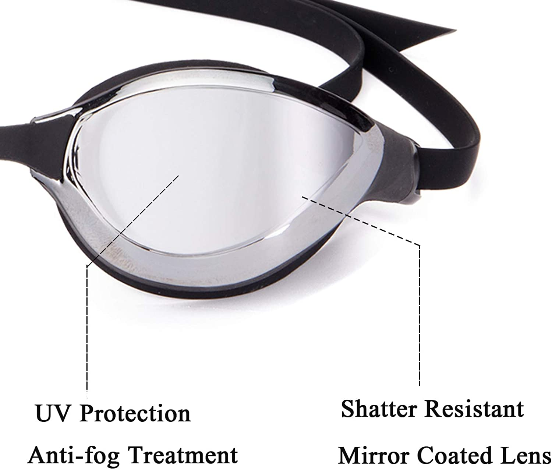 KOLCY Swim Goggles No Leaking Anti Fog UV Protection Triathlon Swim Goggles