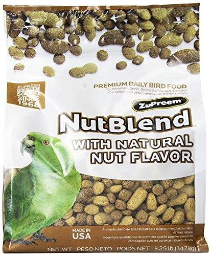 ZuPreem Nut Blend Diet for Medium/Large Birds, 3.25-Pound (Macaw Diet)