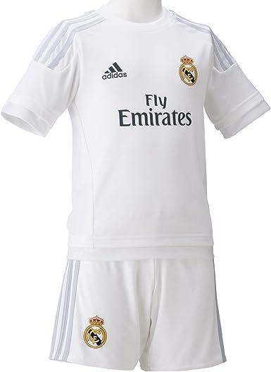 sin embargo disculpa Manía  Amazon.com: adidas 2015/16 Real Madrid CF Home Mini Kit [White] (2XS):  Clothing