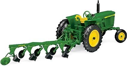 Amazon.com: 1: 16 John Deere 3020 Tractor con arado: Toys ...