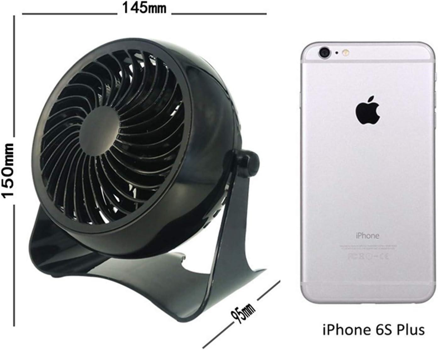 Color : Pure Black XIAOF-FEN Mini Desktop Fan Super Mute One Gear USB Charging Bedside Outdoor Office Table Fan USB Fan