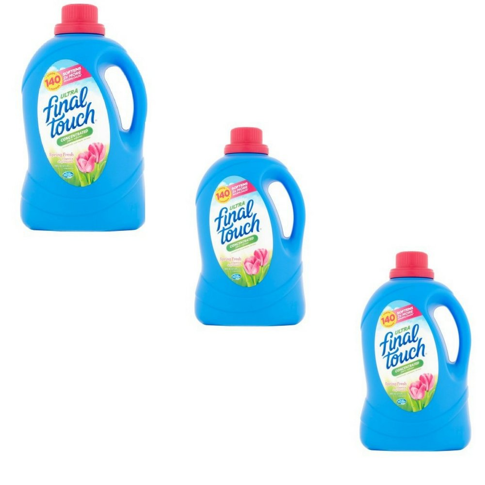 Final Touch Ultra Spring Fresh Concentrated Fabric Softener 140 Loads 120 fl. oz (Pack of 3)