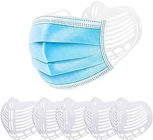 3D Face Mask Bracket Internal Support Frame for Kids & Adult. Breathing Assist Help Mask Frame Food Grade PE Mask Holder Breathable Valve(2 PACK [3D-Mask Bracket])