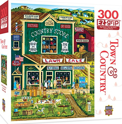 MasterPieces Town & Country The Old Country Store Large 300 Piece EZ Grip Jigsaw Puzzle by Art - Ez Baits