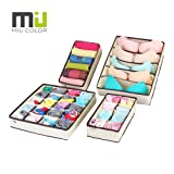 Amazon Price History for:MIU COLOR Drawer Organizer, Closet Organizer Bra Underwear Drawer Divider 4 Set Beige
