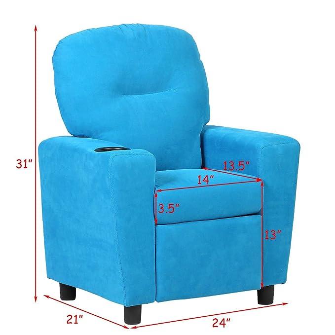 Costzon - Sofá reclinable para niños con Soporte para Tazas ...