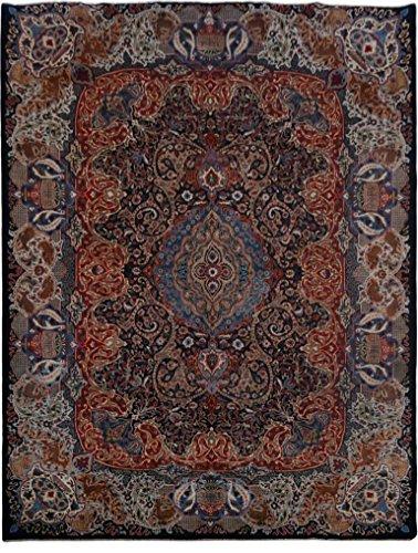 Kashmar Midnight Blue Rug 10x13 Signed Persian Nature & pottery D?cor Handmade
