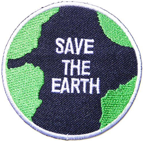 SAVE THE EARTH Love World Peace Kid Jacket T-shirt Patch Sew Iron on Embroidered Applique Sign Badge Costume Gift