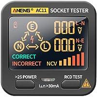 oshhni Digital Smart Socket Tester Voltage Test Socket Detector AU Plug Ground Zero Line Phase Check RCD NCV Test