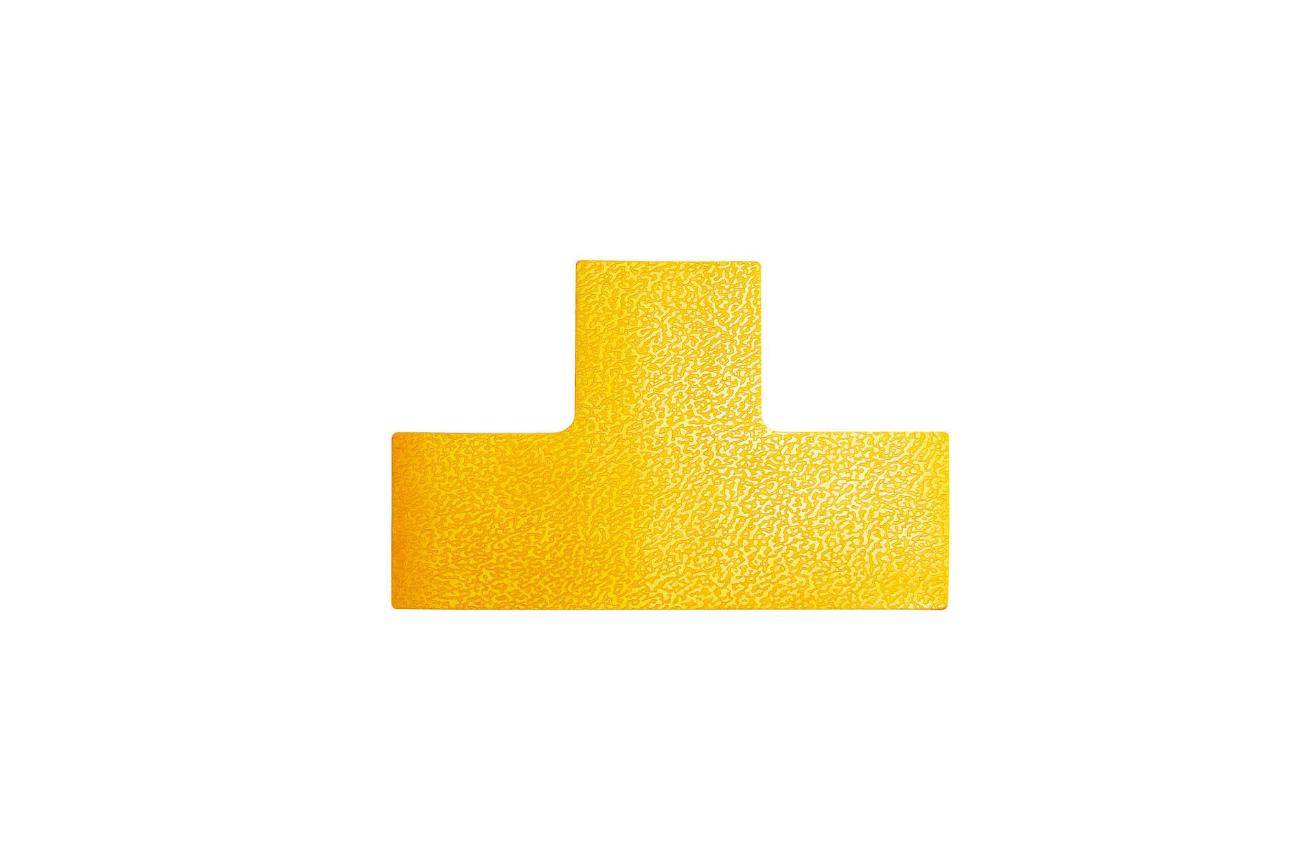 Durable T 170004 Pitch Marking in T Shape Self-Adhesive and Abrasion Resistant Pack of 10 RAL 1003 Signal Yellow by Durable