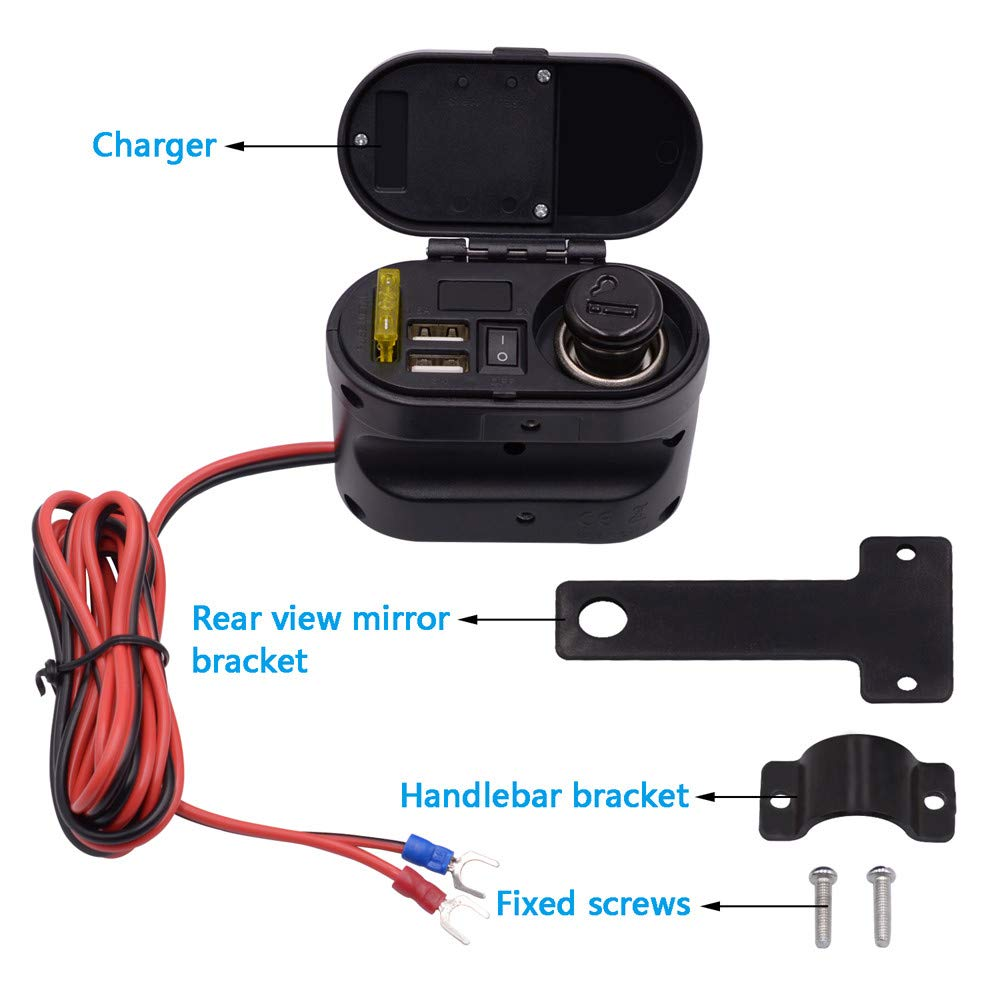 Amazon.com: Mechero de coche con doble cargador USB para ...