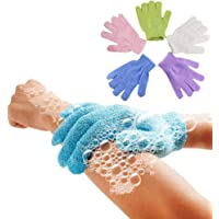 5Pcs Shower Gloves Exfoliating Wash Skin Spa Bath Gloves Foam Bath Skid Resistance Body Massage Cleaning Loofah Scrubber