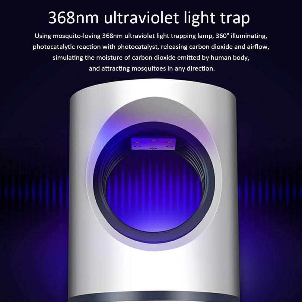 Tueur Basse Tension Ultraviolet Anti-Moustique Lampe S/ûr Efficace Type Entourage Photocatalytique Lumi/ère /Énergie /Économie D/énergie Calme Sain