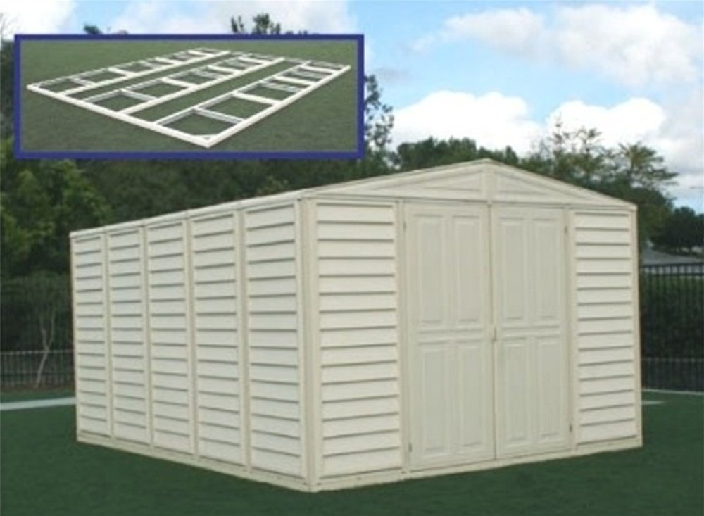 DuraMax Model 00514 10x13 WoodBridge Vinyl Storage Shed with foundation