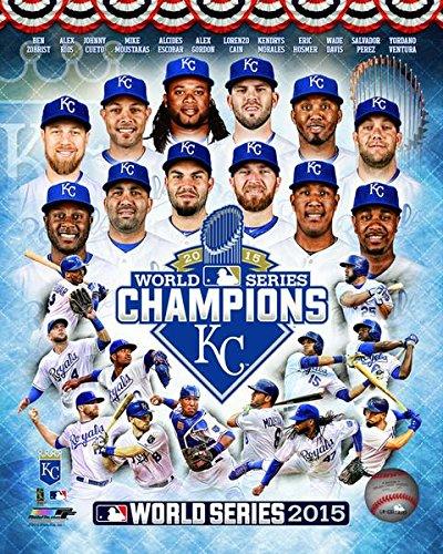 MLB Kansas City Royals 2015 World Series Team Composite Photo (Size: 8