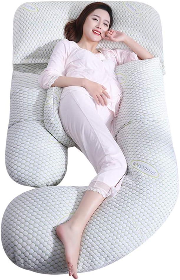 Pregnant Women Pillow Waist Seite Sleeping Pillow Pillow Abdominal Pillow Cushion Bett Linings Children'S Fence Postpartum Breastfeeding Pillow (Color : Green, Size : 1858020Cm)