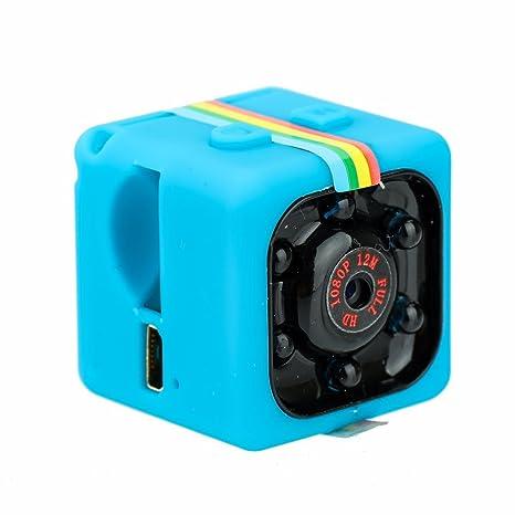 Docooler SQ11 1080P Mini Cámara Espía Cámara de Visión Nocturna Cámara Pequeña Grabadora de Exterior Azul