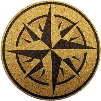 Amazoncom XL Coasters Nautical Compass Rose 6 Inch Set of 2