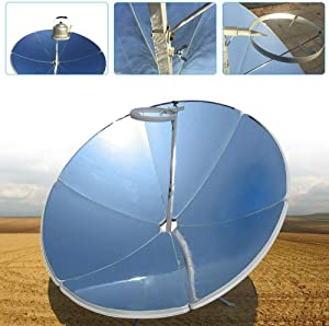 DYRABREST 1800W Portable Solar Cooker Parabolic Sun Oven Outdoor Camping Barbeque Cooking Food Concentrating Heat Tool, 1.5M Diameter