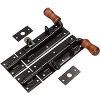 KOTARBAU® deurvergrendeling 280 mm rechts links set 2 st. deurvergrendeling bout slotgrendel duwgreep poedergecoat…